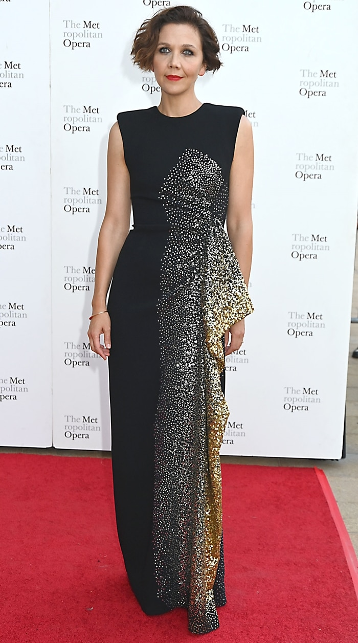 Maggie Gyllenhaal attends the Metropolitan Opera 2019-2020 Fall Opening Night Gala