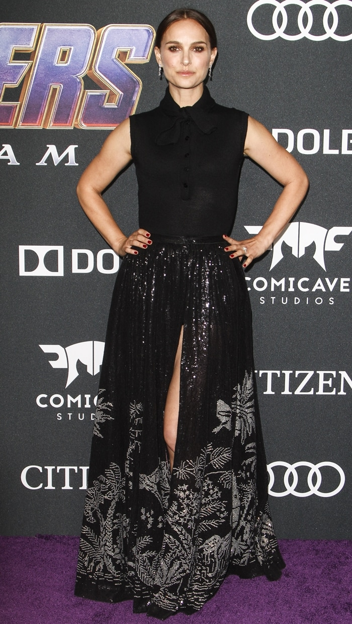 Natalie Portman attends the Avengers: Endgame premiere