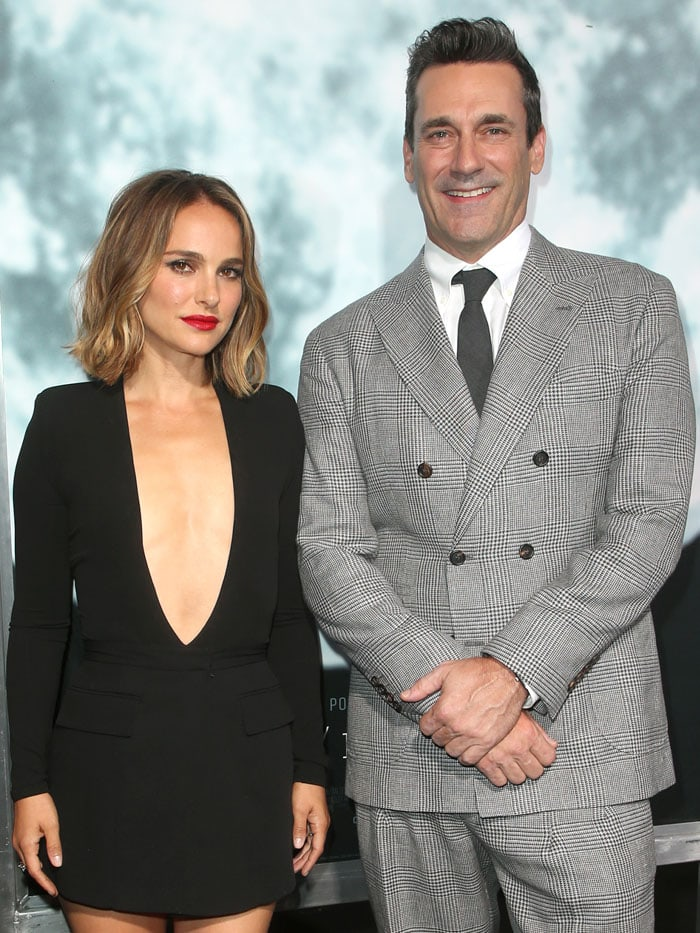 Natalie Portman and Jon Hamm at the Lucy in the Sky premiere