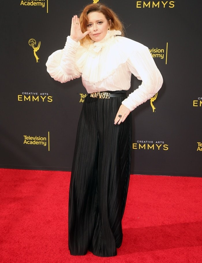 Natasha Lyonne did not have the height to wear this outfit from Rodarte