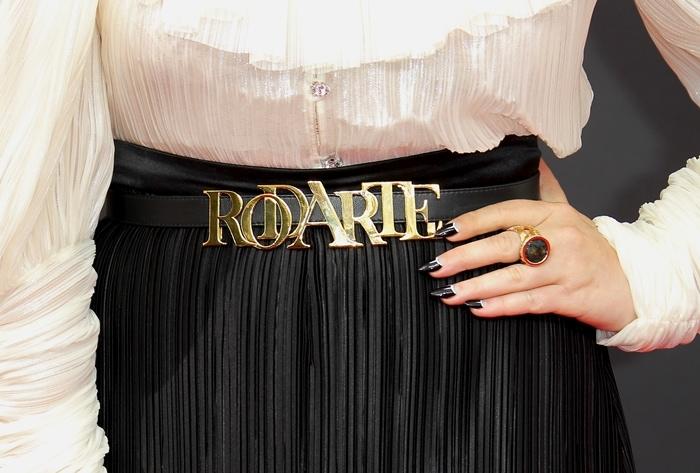 Natasha Lyonne's logo-embellished Rodarte belt