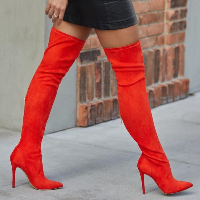 Neysa Sexy Heeled Thigh-High Boots