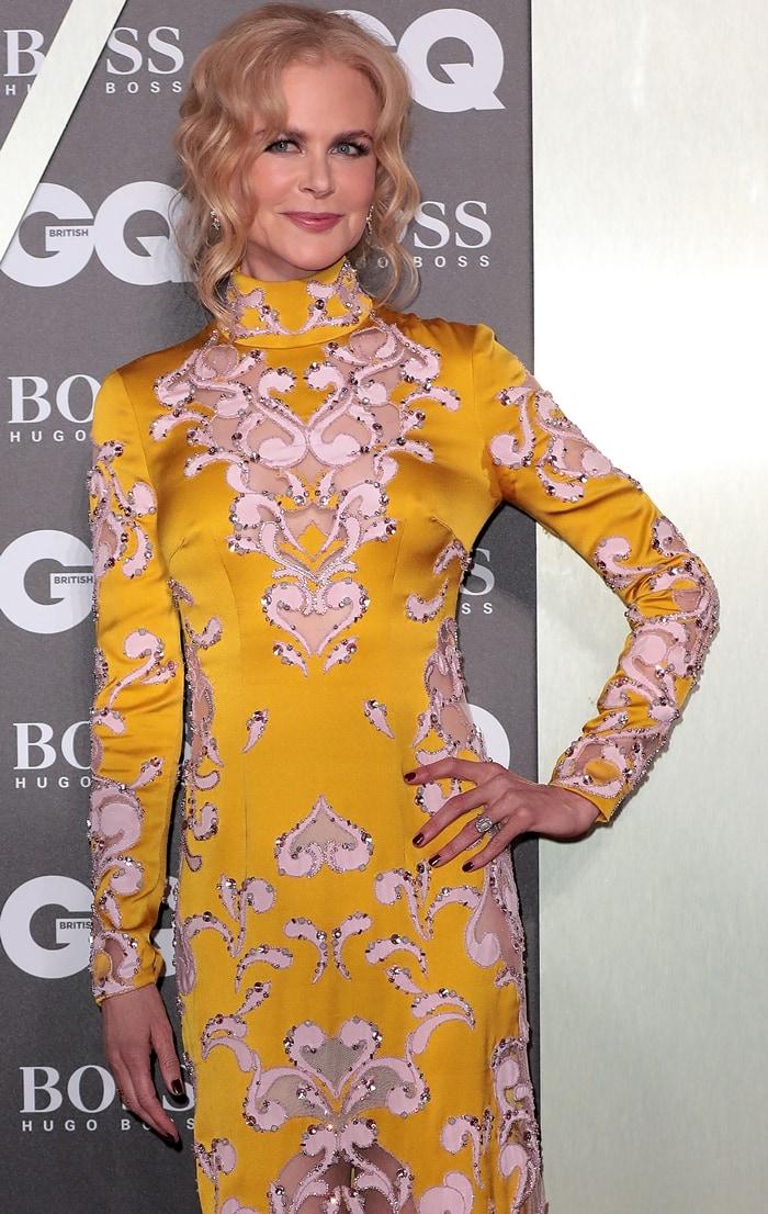 Nicole Kidman's paisley print Ralph & Russo cutout gown