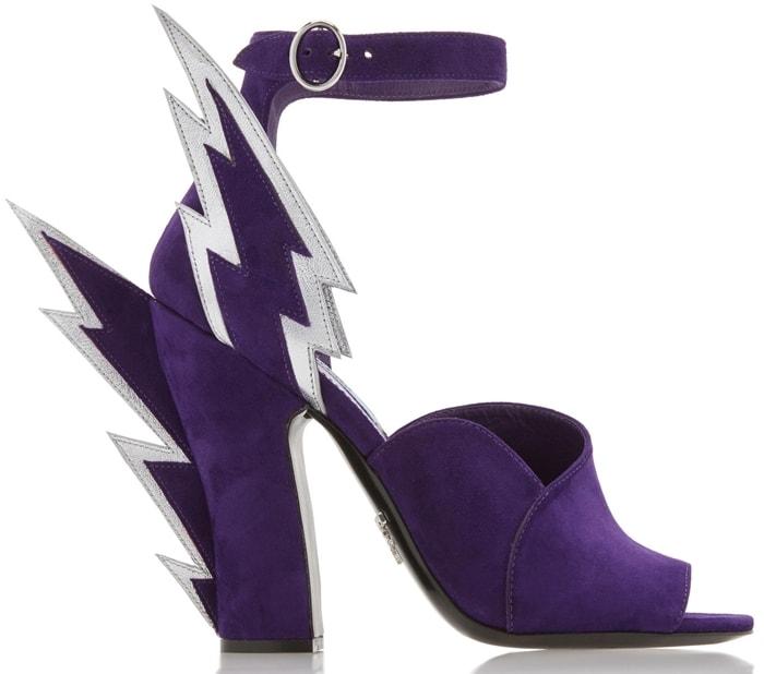 Prada Purple Lighting Bolt Shoes
