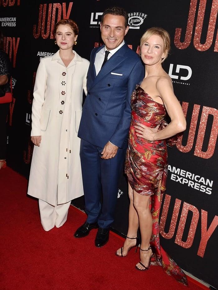"""Jessie Buckley, Rufus Sewell, Renee Zellweger at the LA premiere of Roadside Attraction's """"Judy"""""""