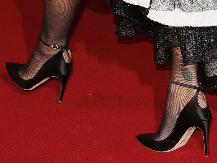 Rita Ora's feet in Rupert Sanderson Balance pumps