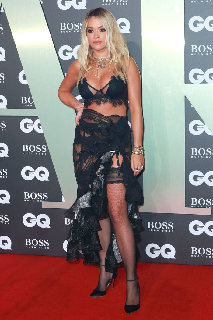 Rita Ora passing off underwear as a dress at the 2019 GQ Men of the Year Awards
