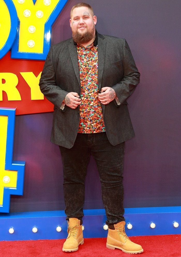 "Rory Graham aka Rag N Bone Man attends the ""Toy Story 4"" European Premiere at Odeon Luxe Leicester Square on June 16, 2019, in London, England"