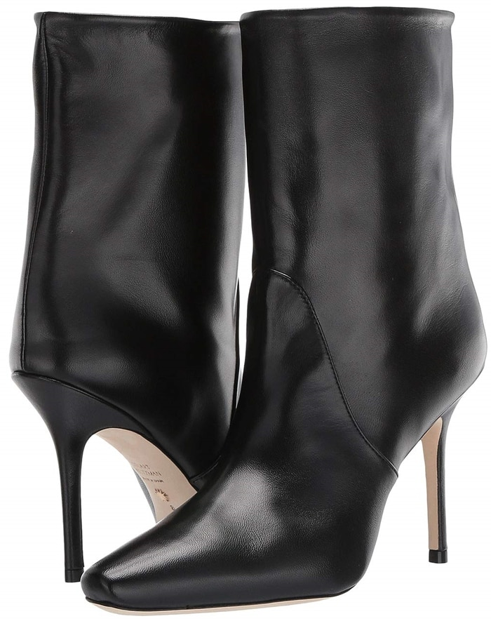 Stuart Weitzman's Ebb ankle boot is defined by its modern proportions