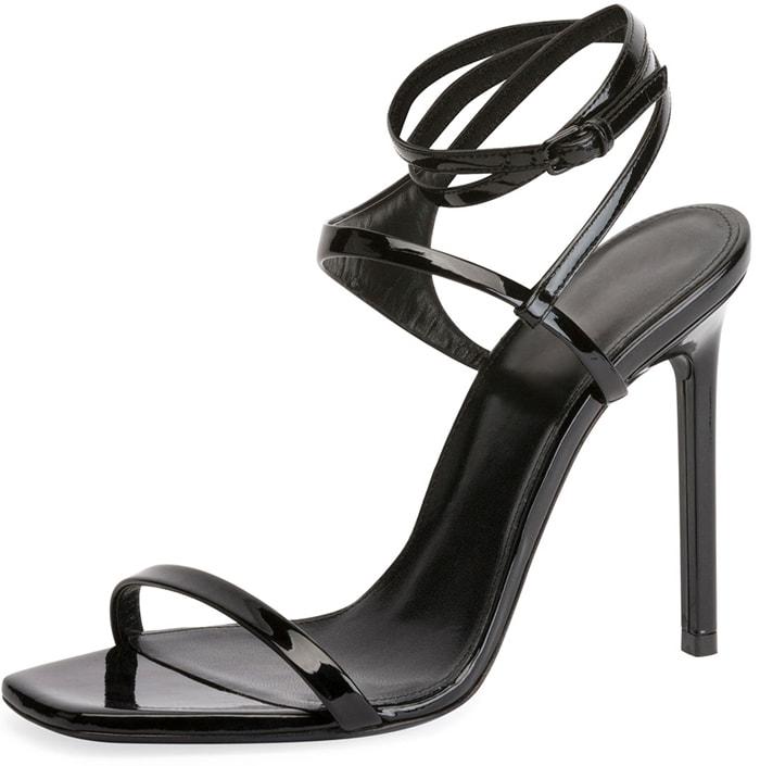 Saint Laurent Amber Edie Patent Sandals