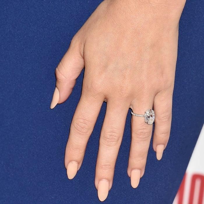Sarah Hyland's mega-carat oval engagement ring designed by Lorraine Schwartz