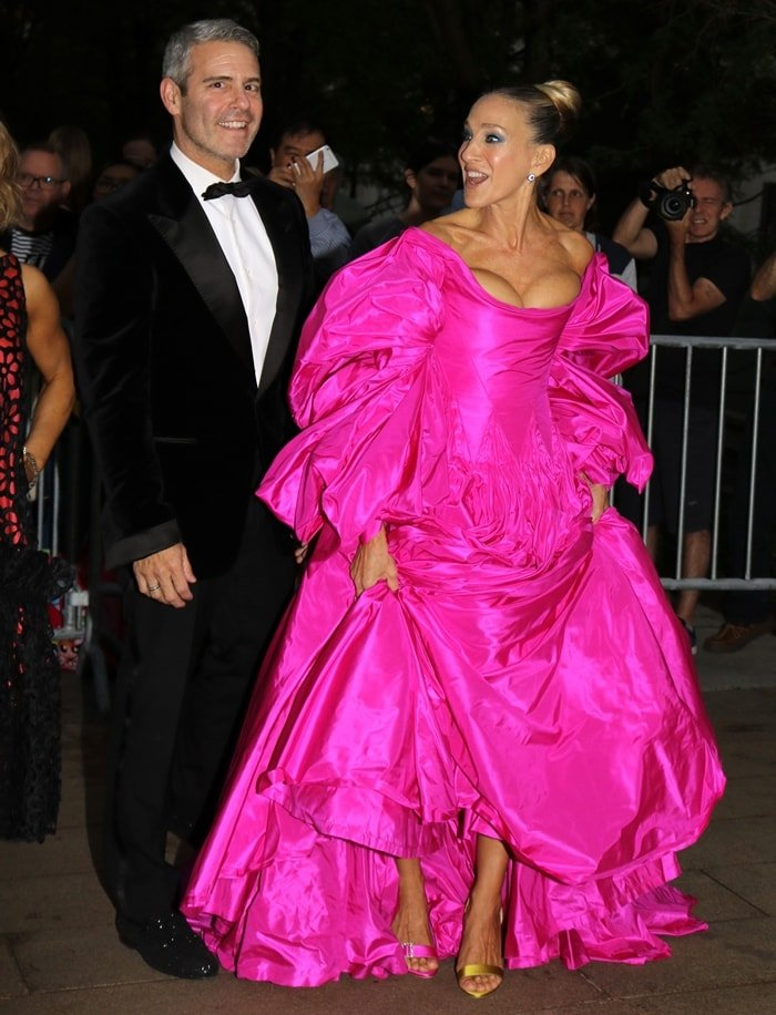 Andy Cohen and Sarah Jessica Parker arrive at the 2019 New York City Ballet Fall Fashion Gala