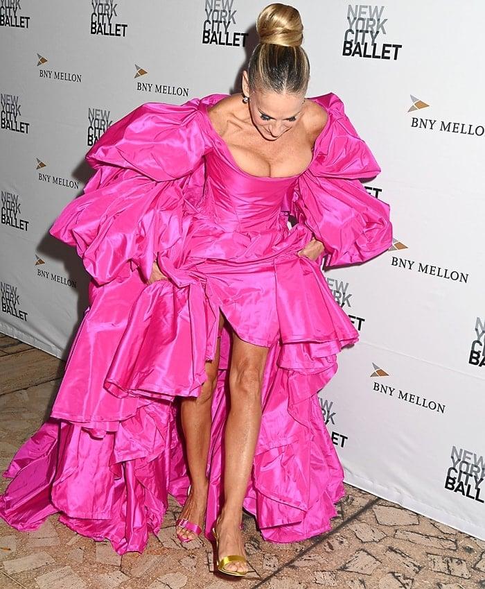 Sarah Jessica Parker shows off her mismatched Rogue heels