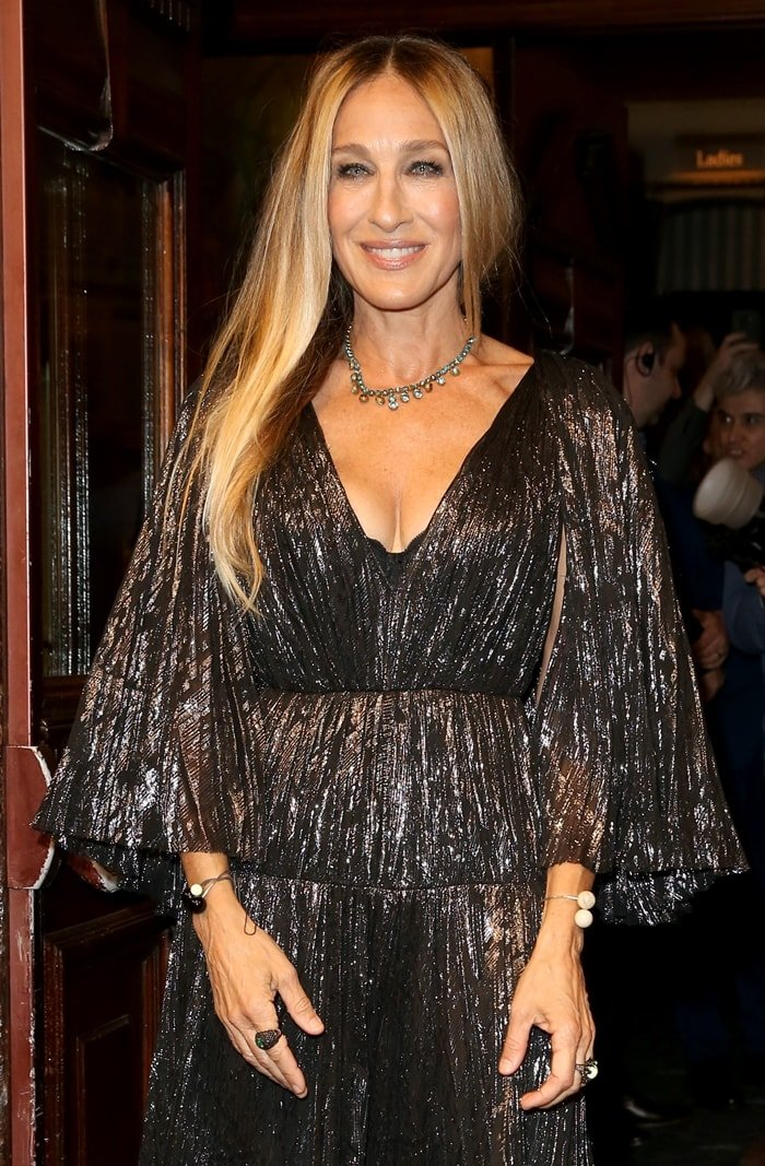 Sarah Jessica Parker attends a press night for The Starry Messenger at Wyndham's Theatre in London, England on May 29, 2019