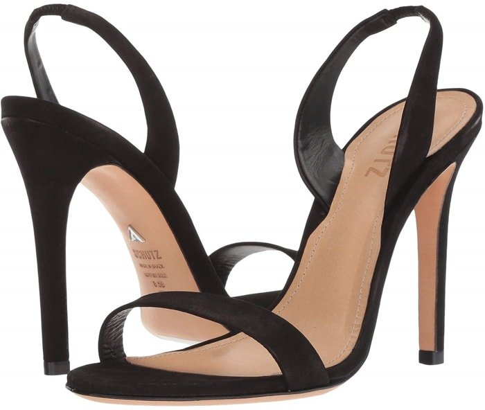 The perfect black dress sandals to wear to a party