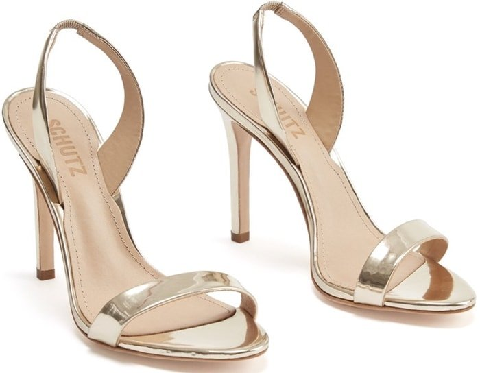 The perfect gold dress sandals to wear to a party