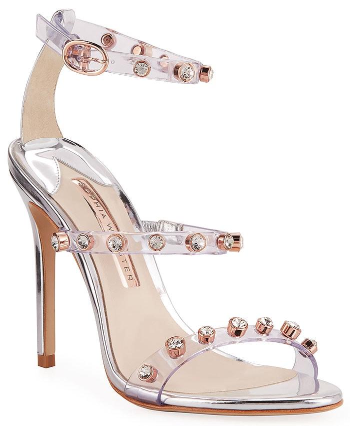 Sophia Webster Rosalind Gem Sandals in Silver