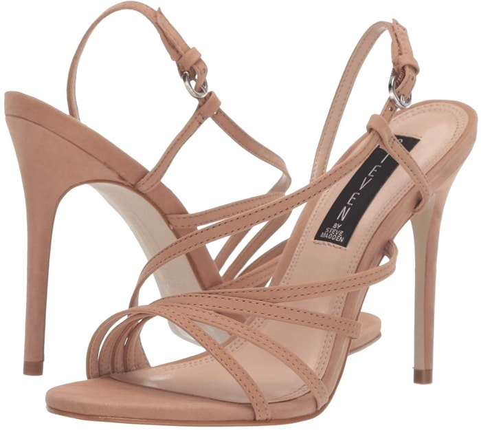 Complete your look with this sleek nude Belize heeled dress sandals