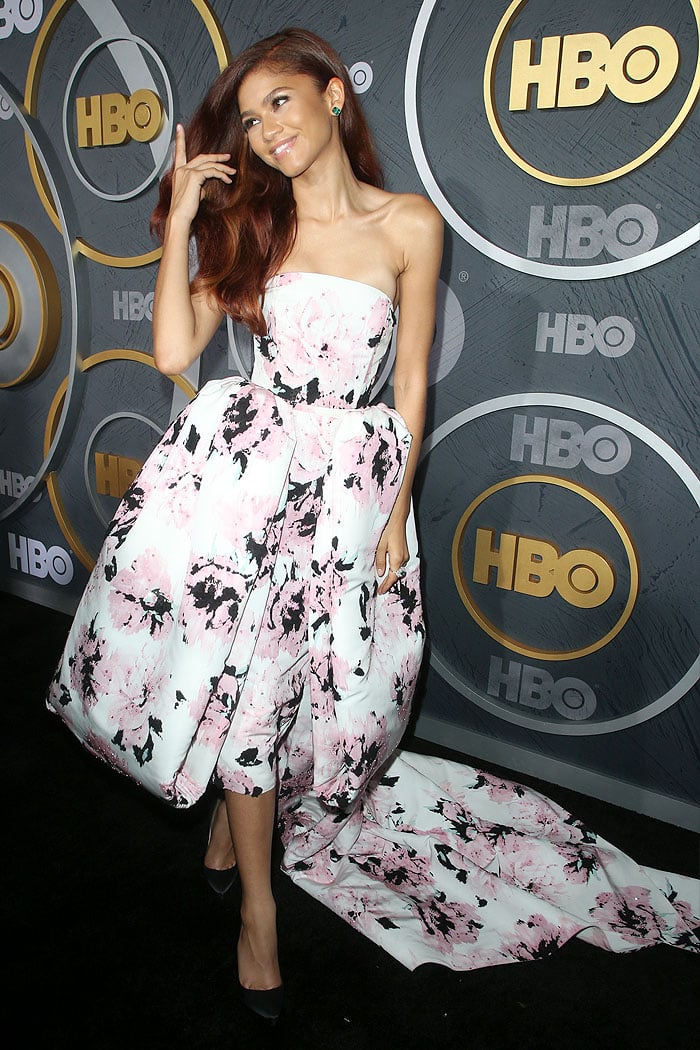 Zendaya in an Alexandre Vauthier dress and Christian Louboutin pumps