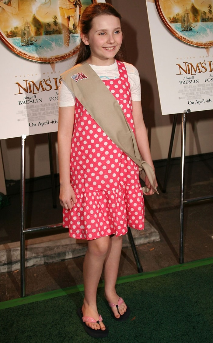 Actress Abigail Breslin arrives to be officially inducted as a member of The Girl Scouts of the USA