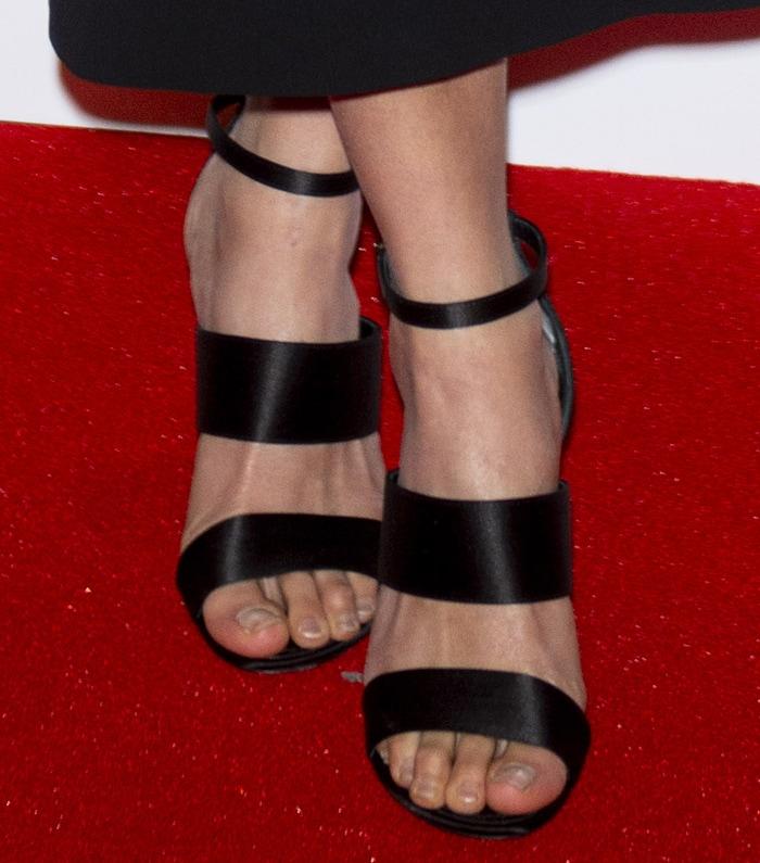 Alicia Vikander's sexy feet in strappy sandals