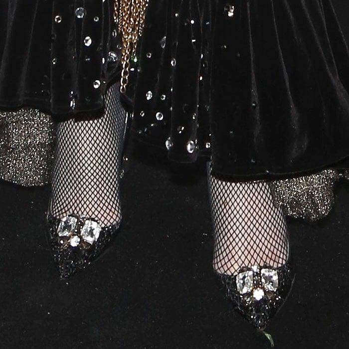 Amanda Lepore's customized Christian Louboutin pumps