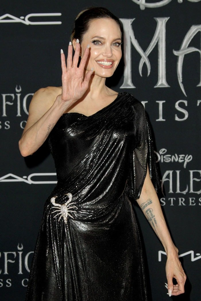 Angelina Jolie with long nails