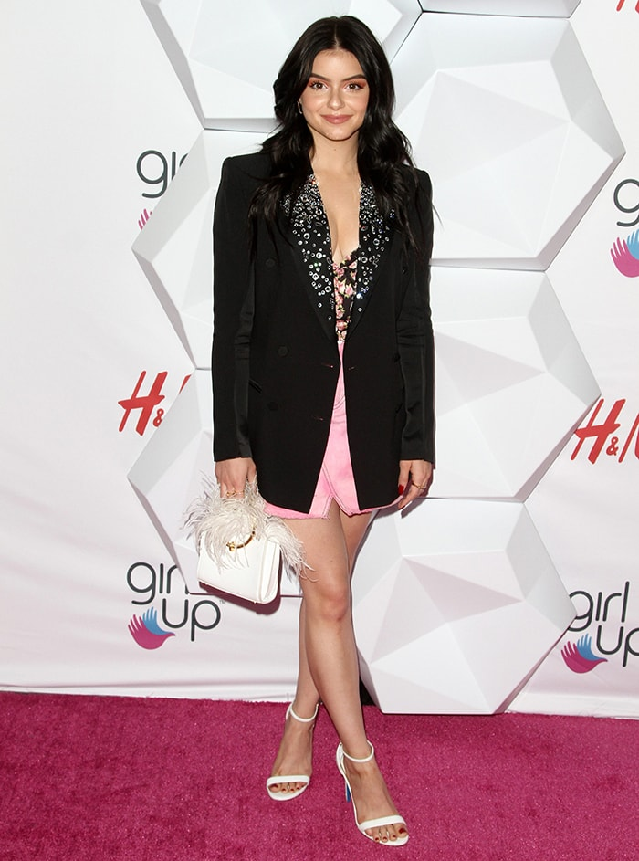 Ariel Winter flaunts her revenge body in a daring bustier and a mini skirt topped with a bejeweled blazer