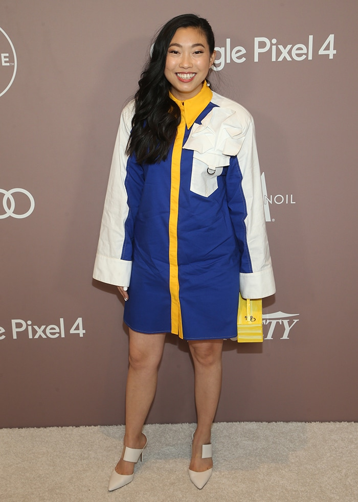 Awkwafina opts for a playful look atVariety's Power of Women luncheon held at the Beverly Wilshire Four Seasons in Los Angeles on October 11, 2019