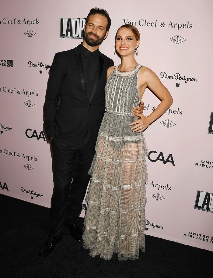 Natalie Portman supports husband Benjamin Millepied at the 2019 LA Dance Project Gala held at Hauser & Wirth. in Los Angeles on October 19, 2019
