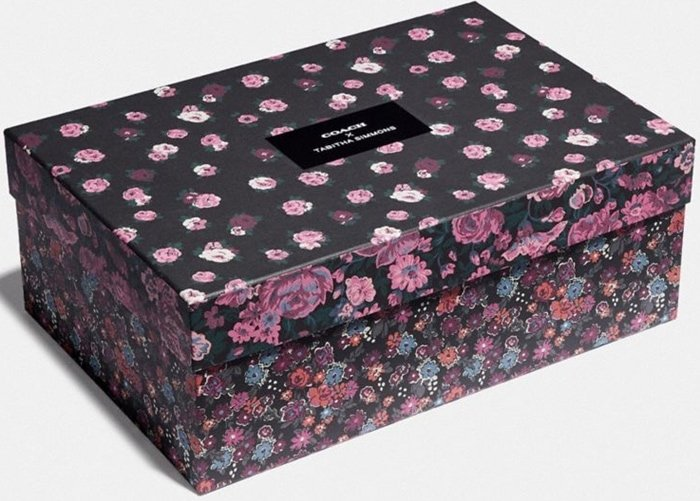 Floral shoe box from Coach and Tabitha Simmons
