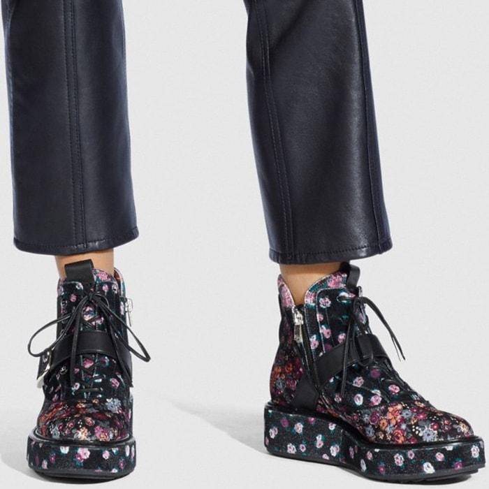 Black and Rosedust Coach 1941 x Tabitha Simmons Chelsea Urban Hiker Shoes