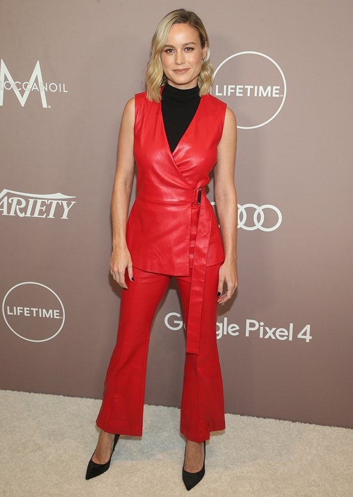 Brie Larson looks edgy atVariety's Power of Women luncheon held at the Beverly Wilshire Four Seasons in Los Angeles on October 11, 2019