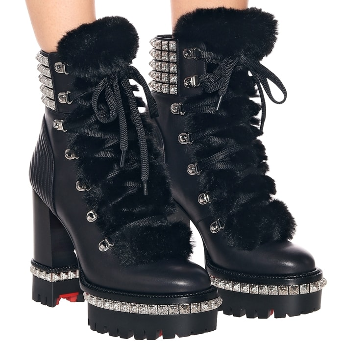 Black Yeti Donna Genuine Shearling Booties