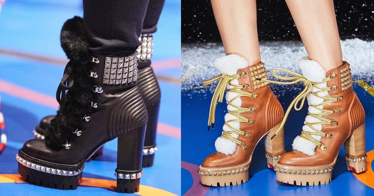 Yeti Donna Shearling Combat Boots Inspired By High