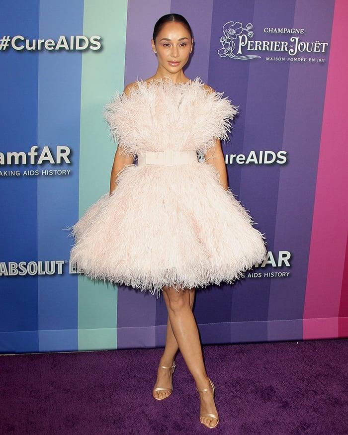 Cara Santana looks like a ballerina at the 10th Annual amfAR Los Angeles Gala held at Milk Studios in Los Angeles on October 10, 2019