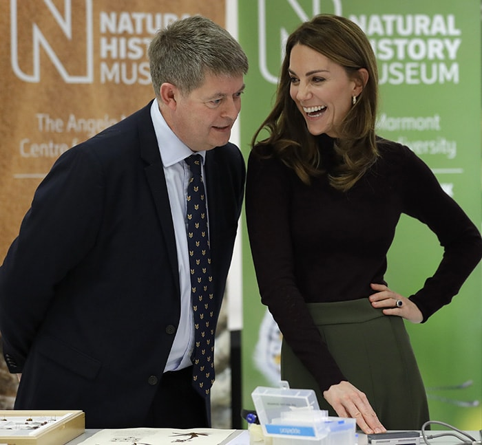 Kate Middleton with Natural History Museum director Sir Michael Dixon