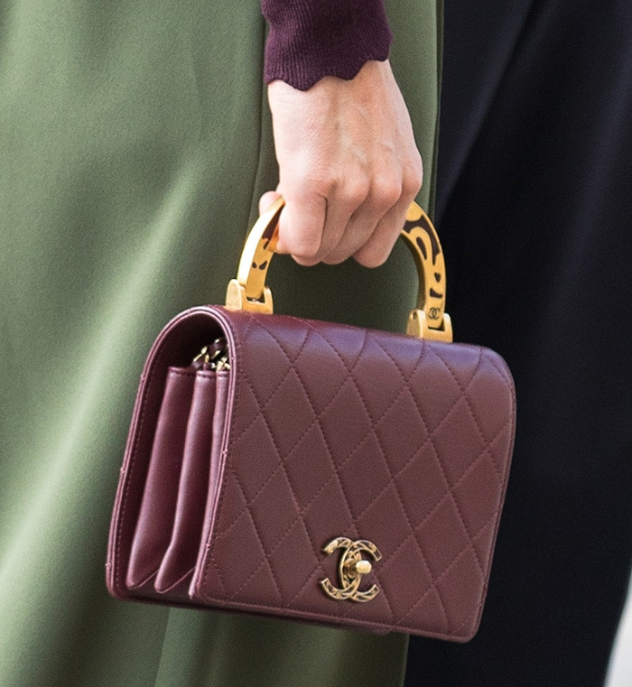 Kate Middleton carrying a Chanel flap bag