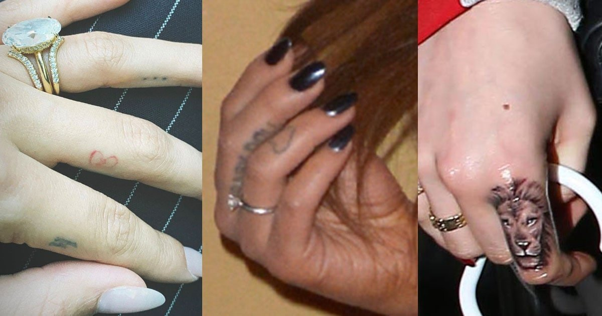 Finger Tattoos 6 Celebrity Design Ideas For Women Painless and easy to apply. finger tattoos 6 celebrity design