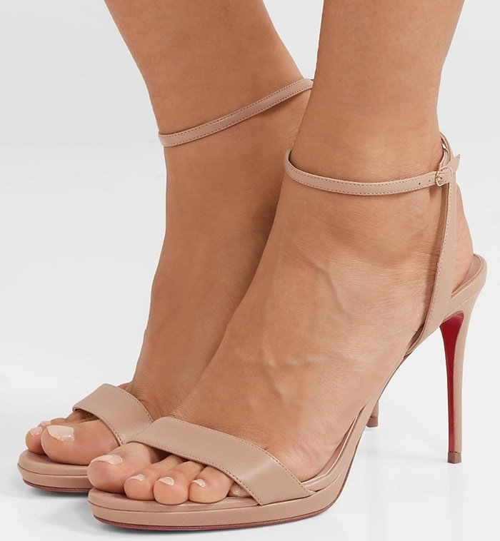 Christian Louboutin's Loubi Queen sandals are so versatile - you can wear them with everything from evening dresses to cuffed denim