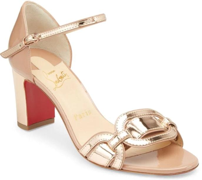 Christian Louboutin Valparaisa 70 Patent Leather Sandals