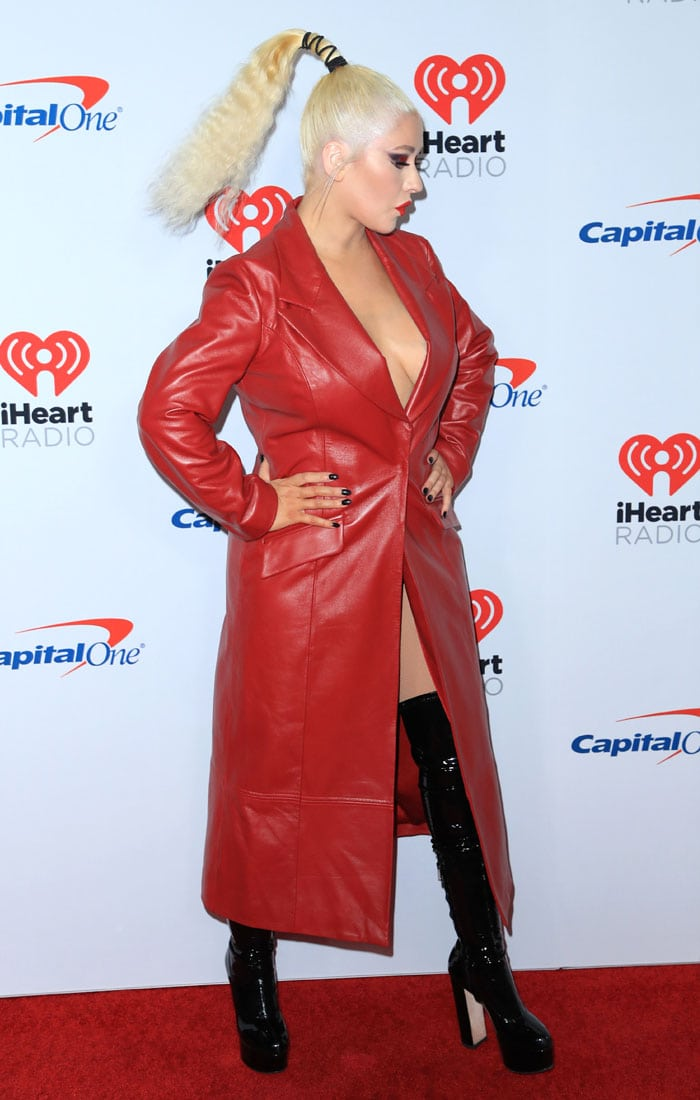 Christina Aguilera at the 2019 iHeartradio Music Festival Las Vegas