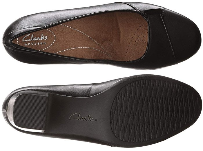 Ladies who are reluctant to wear heels at work should hesitate no more with these Clarks dress pumps