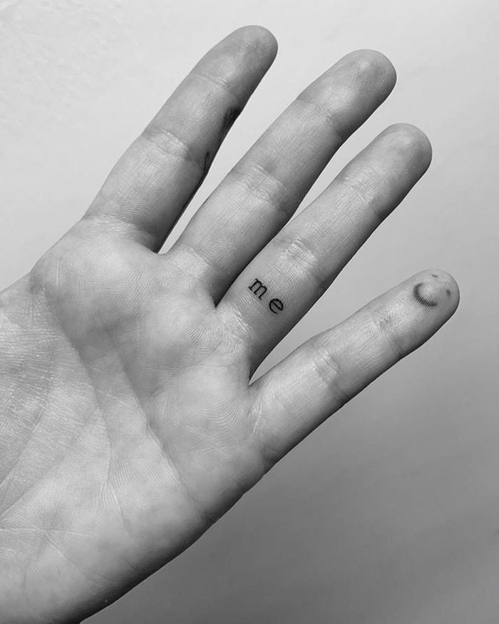 Demi Lovato showed off her finger tattoos on Instagram in June 2019