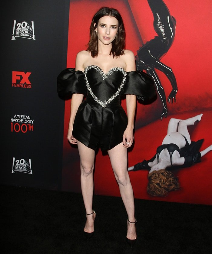 Emma Roberts at FX's American Horror Story 100th Episode Celebration held at the Hollywood Forever Cemetery in Los Angeles on October 26, 2019