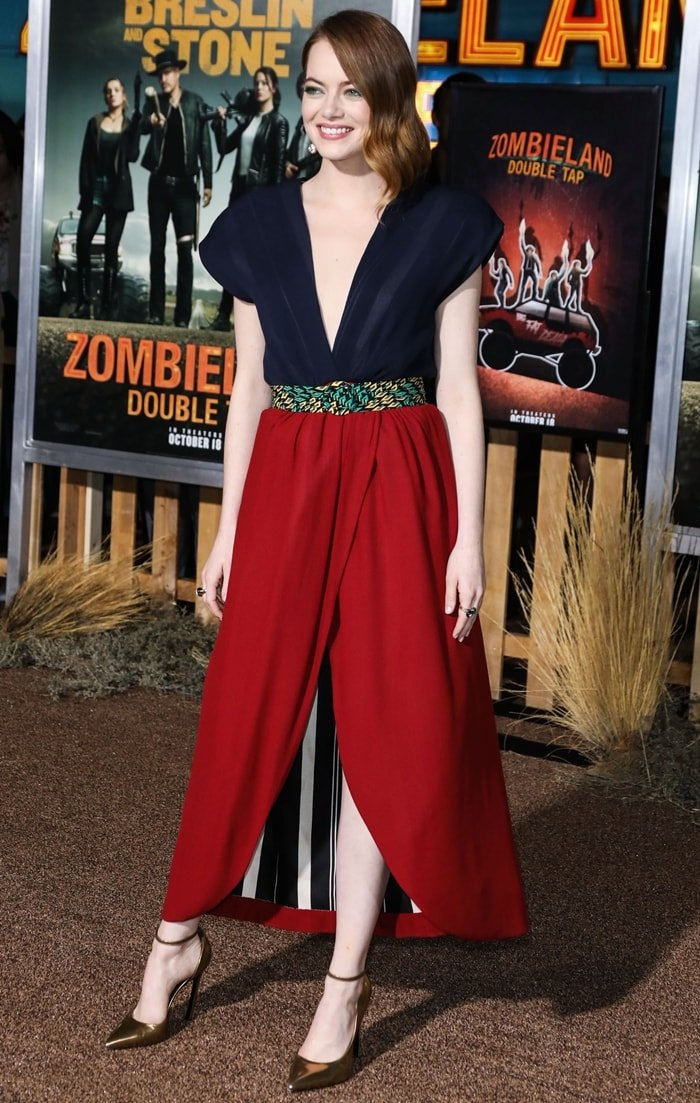 Emma Stone at the premiere of Zombieland: Double Tap