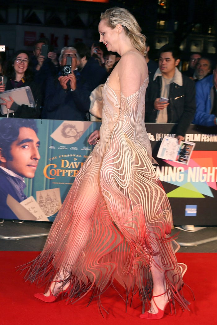 Gwendoline Christie at the screening of The Personal History Of David Copperfield
