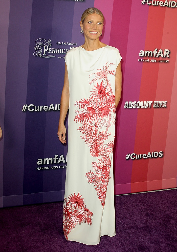 Gwyneth Paltrow was honored at the 10th Annual amfAR Los Angeles Gala held at Milk Studios in Los Angeles on October 10, 2019