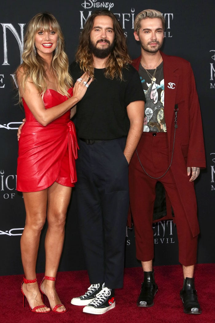Heidi Klum joined by husband Tom Kaulitz and his brother Bill Kaulitz