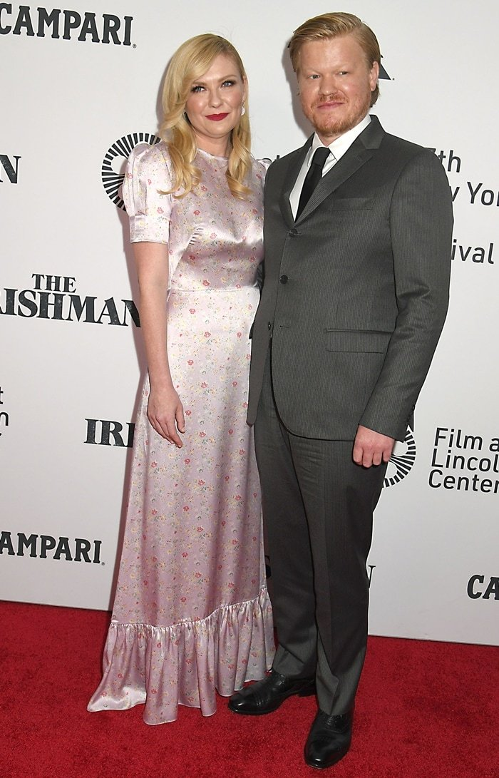 "Kirsten Dunst and her fiance Jesse Plemons attend the New York Film Festival 57th Opening Night Gala world premiere of ""The Irishman"""